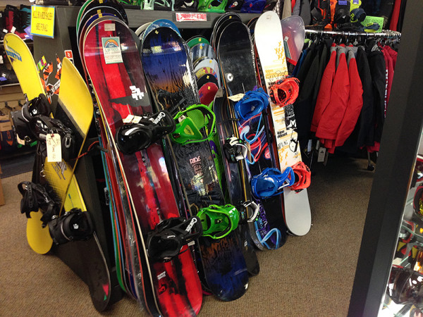 Snowboards available at Sportsmen's Den, Mt. Shasta, CA